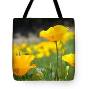 Poppy Flower Meadow 11 Poppies Art Prints Canvas Framed Tote Bag