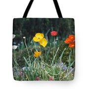 Poppy Flower Mix Tote Bag
