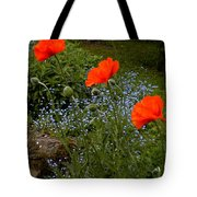 Poppy Foursome Tote Bag