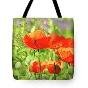 Poppy Garden Tote Bag