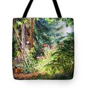 Poppy Garden Landscape Tote Bag