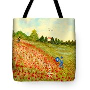 Poppy Hill Tote Bag