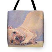 Poppy Puppy Tote Bag