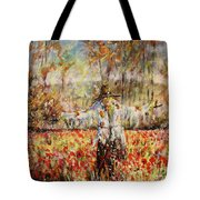 Poppy Scarecrow Tote Bag