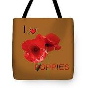 Poppy Triptych Tote Bag