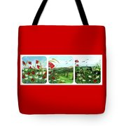 Poppy Tryptic Tote Bag