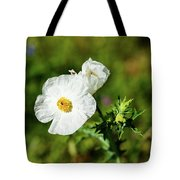 Poppy Wildflower Tote Bag