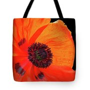 Poppy With Raindrops 2 Tote Bag