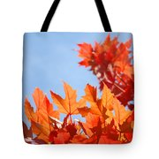 Popular Autumn Art Red Orange Fall Tree Nature Baslee Troutman Tote Bag