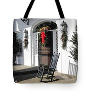 Porch At Boone Hall Plantation Charleston Sc Tote Bag