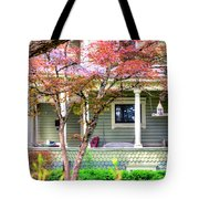 Porch Birdhouse Tote Bag