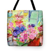 Porch Flowers Tote Bag