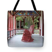 Porch With Rocking Chairs Tote Bag