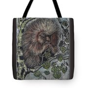 Porcupine In Aspen Tote Bag