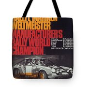 Porsche 1970 Rally World Champion Tote Bag