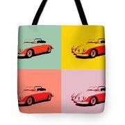 Porsche 356 Pop Art Panels Tote Bag