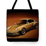 Porsche 911 Turbo 1976 Painting Tote Bag