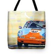 Porsche 911 S  Classic Le Mans 24  Tote Bag by Yuriy  Shevchuk