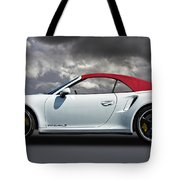 Porsche 911 Turbo S With Clouds Tote Bag