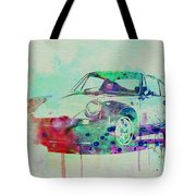 Porsche 911 Watercolor 2 Tote Bag by Naxart Studio