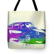 Porsche 911 Watercolor Tote Bag by Naxart Studio