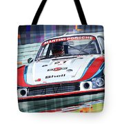 Porsche 935 Coupe Moby Dick Martini Racing Team Tote Bag