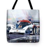 Porsche 956 Rothmans 1982 1000km Francorchamps Derek Bell Tote Bag