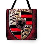 Porsche Emblem Tote Bag