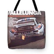 Porsche Vallelunga Vintage Racing Poster Tote Bag