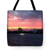 Port Angeles Harbor Thirteen Tote Bag