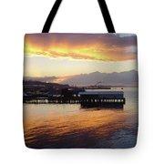 Port Angeles Sunset Tote Bag