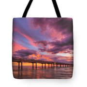 Port Aransas Texas Sunrise 25 Tote Bag