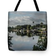 Port Charlotte Elkham Waterway From Tamiami Tote Bag