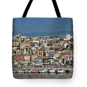Port City Parga Greece - Dwp1163344 Tote Bag