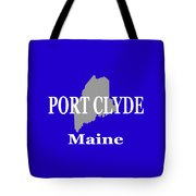 Port Clyde Maine State City And Town Pride  Tote Bag