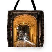 Port Dinan Archway At Night Tote Bag