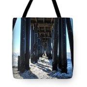 Port Hueneme Pier - Waves Tote Bag