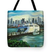 Port Imperial Tote Bag by Milagros Palmieri