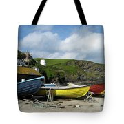 Port Isaac Boats Tote Bag