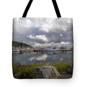 Port Of Anacortes Marina On A Cloudy Day Tote Bag