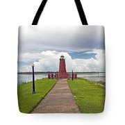 Port Of Kissimmee Lighthouse On Lake Tohopekaliga In Central Florida Tote Bag