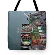 Port Of Oakland Aerial Photo Tote Bag