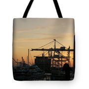 Port Of Oakland Sunset Tote Bag