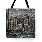 Port Of San Francisco And Downtown Financial District Tote Bag