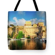 Port Of Sorrento, Southern Italy Tote Bag