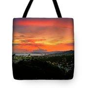 Port Of Spain Sunset Tote Bag
