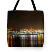 Port Of Vancouver Bc At Night Tote Bag
