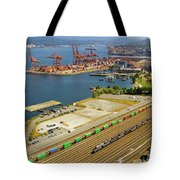 Port Of Vancouver Bc Tote Bag