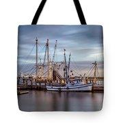 Port Royal Shrimp Boats Tote Bag