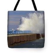 Port Sanilac Harbor Tote Bag by Kathy DesJardins